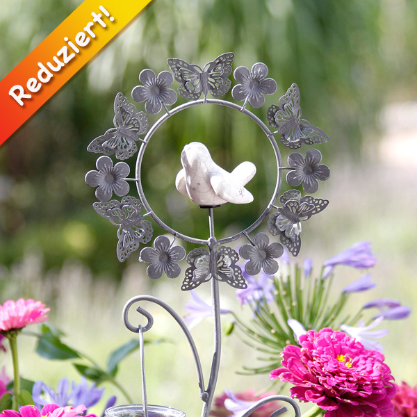 Gartenstab teelichtstab birdy for Gartendeko reduziert