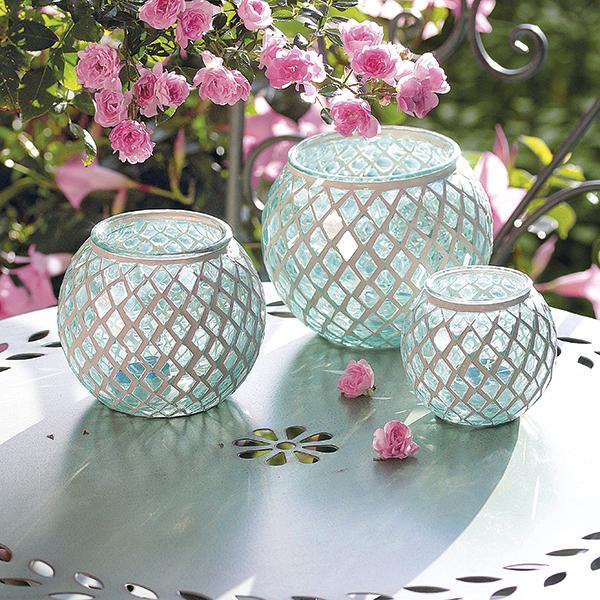 Tischlichter turmalin for Gartendeko aus glas