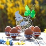 "Draht-Eierkorb ""Weißes Huhn"""