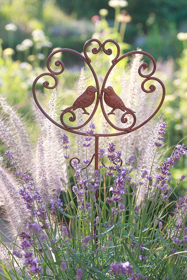 Gartenstab vogelhochzeit for Gartendeko reduziert
