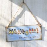 "Hängeschild ""Be Happy"""