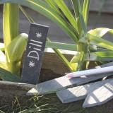 A1964 + A1965 Schiefer-Pflanzetiketten 6er-Set
